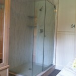 Frameless glass enclosure