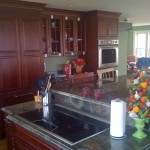 Full kitchen with cabinet front refrigerator