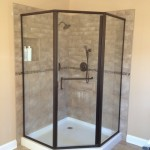 Framed neo-angle shower enclosure